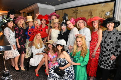 CEO Michelle-Marie Heinemann of Old Fashioned Mom Magazine hosts her 9th Annual Bellini and Bloody Mary Hat Party at Bar Pleiades