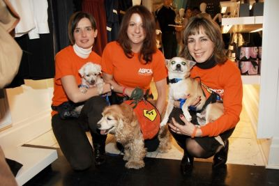 Ania Poinvil, Michael the Dog, Elizabeth Silverman, Lady the Dog, Elaine Florio, Mel the Dog