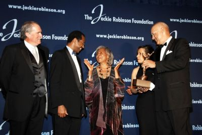 John McGlade, Dr. Ben Carson, Rachel Robinson, Della Britton Baeza (CEO of JRF), Leonard S. Coleman (Chairman of JRF)