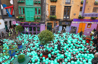 Photo Of The Day: 10,000 Balloons Released In Covent Garden