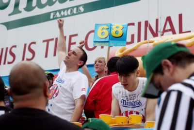 Joey Chestnut wins.