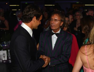 Roger Federer and Sir Cliff Richard