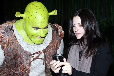 Courtney Cox. And Shrek.