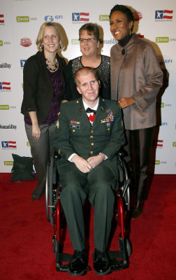 Jen Briest, Sgt. Cory Briest, Deborah Johnson, Robin Roberts