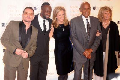 Bono, Wyclef Jean, Kerry Kennedy, Harry Belafonte, Julie Robinson