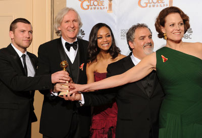 Sam Worthington, James Cameron, Zoe Saldana, John Landau and Sigourney Weaver