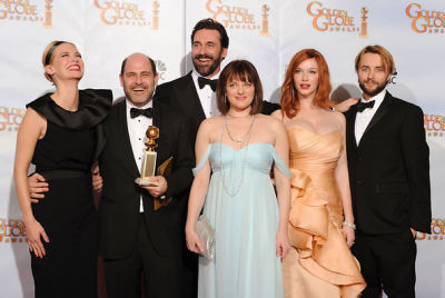 January Jones, Matthew Weiner, Jon Hamm, Elisabeth Moss, Christina Hendricks, Vincent Kartheiser
