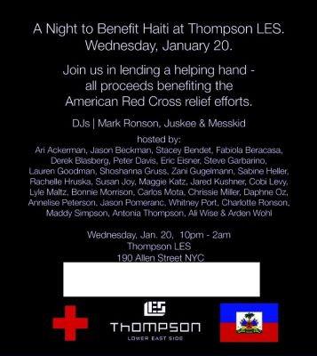 Haiti Benefit Thompson LES