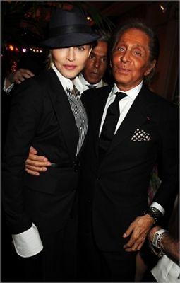 Madonna and Valentino