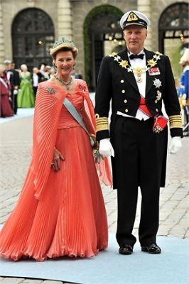 Queen Sonja of Norway, King Harald