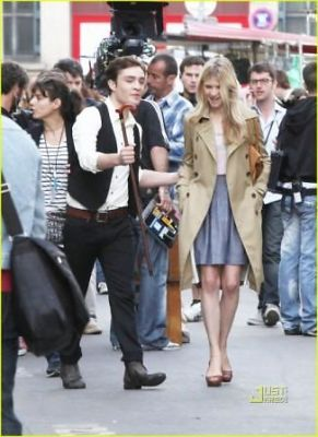 """Chair"" Fans Beware: Ed Westwick Spotted Filming With Clemence Poesy"