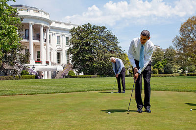 Stick To Tanning, Biden--We Hear Golf Ain't Your Forte
