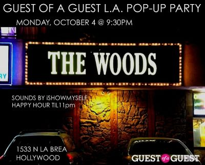 Tonight's Pop-Up Party At The Woods!