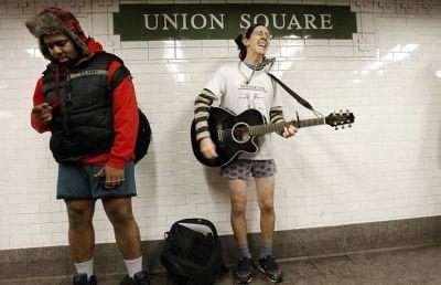 Pants Off Subway 2011
