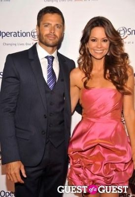 Actor David Charvet (L) and model Brooke Burke