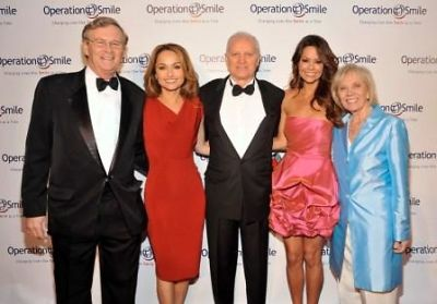 Co-Founder and CEO of Operation Smile, Dr. Bill Magee, TV personality and chef Giada De Laurentiis , honoree Santo Versace, model Brooke Burke and Co-Founder and CEO of Operation Smile, Kathy Magee