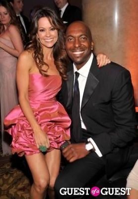 Model Brooke Burke (L) and former NBA player John Salley