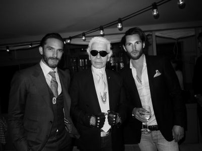 Sébastien Jondeau, Karl Lagerfeld, Jake Davies