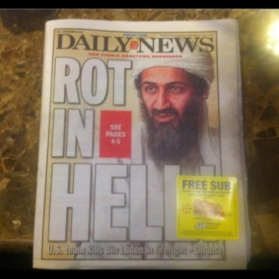 Newspapers React To The Death Of Osama Bin Laden. A Look Through The Front Pages And My Tumblr Dashboard