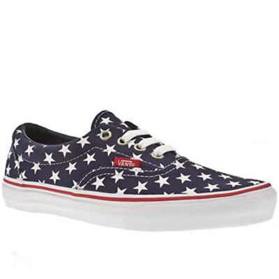 Women's Navy & White Vans Vans Era Stars & Stripes at Schuh
