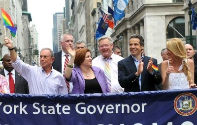 Mayor Michael Bloomberg, Christine Quinn, Tom Duane, Andrew Cuomo, Sandra Lee