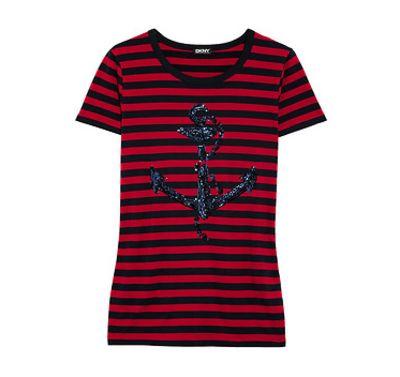 Dkny Striped Anchor T-Shirt
