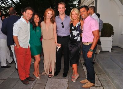 Mark Feuerstein, Dana Klein, Kimberly Van Der Beek, James Van Der Beek, Kelly Ripa, Mark Consuelos