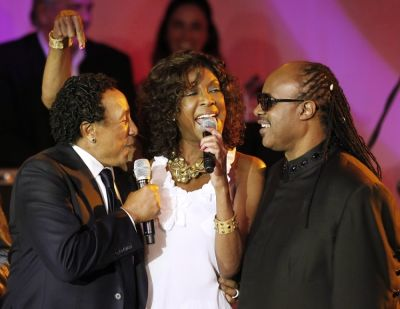 Smokey Robinson, Natalie Cole, Stevie Wonder