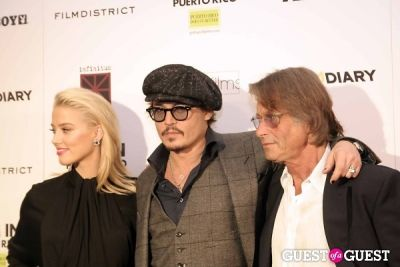 Amber Heard, Johnny Depp and Bruce Robinson