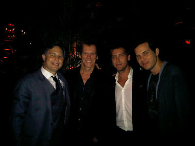 Jason Binn, Kevin Bacon, Lance Bass, Scott Sartiano