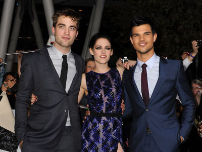 Robert Pattinson, Kristen Stewart, Taylor Lautner