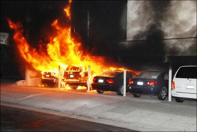 LA Arson Car Fire