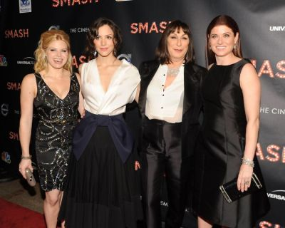 Megan Hilty, Katharine McPhee, Anjelica Huston, Debra Messing