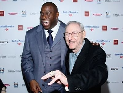 Magic Johnson and Bill Sharman