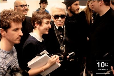 Sarah Lerfel, Karl Lagerfeld