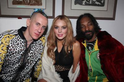 Jeremy Scott, Lindsay Lohan, Snoop Dogg