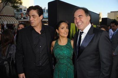 Benecio Del Toro, Salma Hayek, Oliver Stone