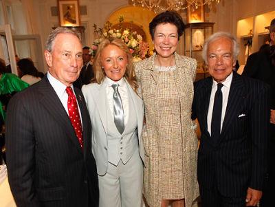 Mayor Michael Bloomberg, Ricky Lauren, Diana Taylor, Ralph Lauren