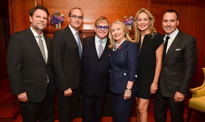 Kris M. Balderston, Chad Griffin, Sir Elton John, Hillary Clinton, Sharon Stone, David Furnish