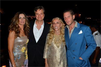 Livia Firth, Colin Firth, Franca Sozzani, Lapo Elkann