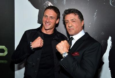 Ryan Lochte, Sylvester Stallone
