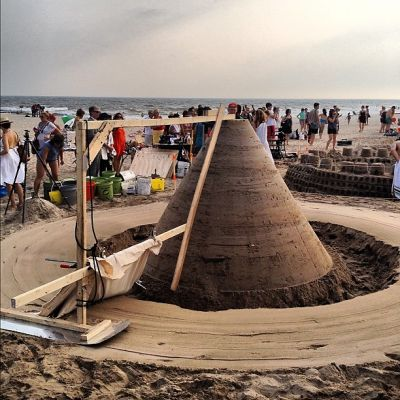 Cool Castles: First Annual Sandcastle Competition, Rockaway Beach
