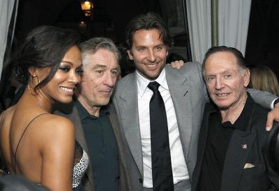 Zoe Saldana, Robert De Niro, Bradley Cooper, Paul Herman