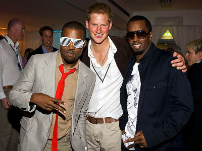 Kanye West, Prince Harry, Diddy