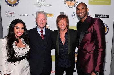 Vanessa Bryant, President Bill Clinton, Richie Sambora, Kobe Bryant