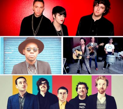 The xx, Theophilus London, Violent Femmes, Hot Chip