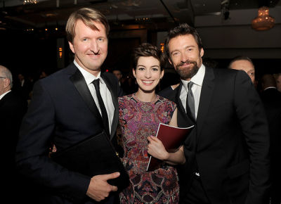 Tom Hooper, Anne Hathaway, Hugh Jackman