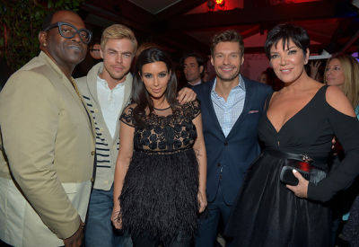 Randy Jackson, Derek Hough, Kim Kardashian, Ryan Seacrest, Kris Jenner