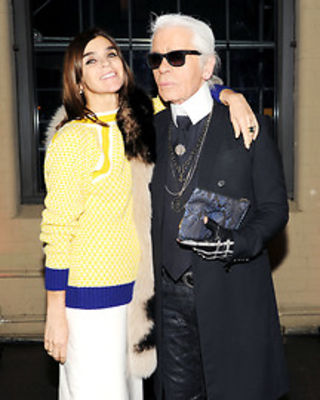 Carine Roitfeld, Karl Lagerfeld