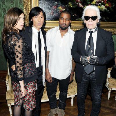 Carine Roitfeld, Stephen Gan, Kanye West, Karl Lagerfeld